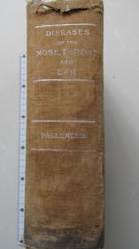 大部头外文书——耳鼻喉医书——1946年出版——23*15*7厘米