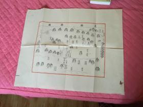 白宣绣像地图《武缘县图》68*55厘米,保存尚可边角擦伤及轻微水印,非常难得的地域图,书影如一