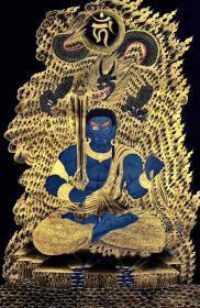 【不动明王】高端精品彩唐 尼泊尔唐卡大师经典力作 本作品为矿物颜料,纯金手绘,有大师签名落款