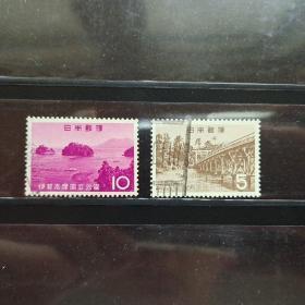 1964年日本伊势志摩国立公园2全信销旧票