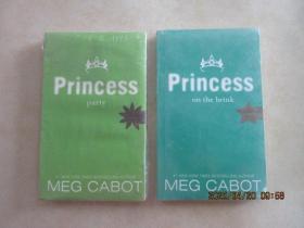 英文书:CABOT : 【PARTY  PRINCESS】【PRINCESS  ON  THE  BRINK】 共2本合售   详见图片  全新未翻阅