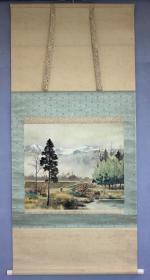 日本名家绘画:太田伊八《田间春作图》(保真迹)