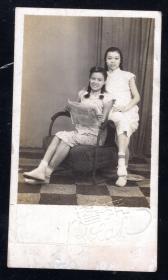民国年代美女老照片1张尺寸约3.8*6.8厘米)888