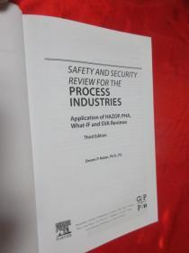 Safety and Security Review for the Process...    (小16开,硬精装)    【详见图】