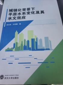 城镇化背景下平原水系变化及其水文效应
