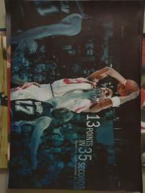 NBA火箭麦迪35秒13分海报可粘