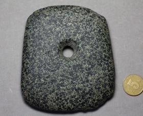 红山文化 石钺 美品器型阔大 红山 石器