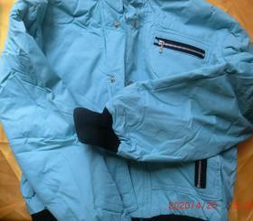 啸文时尚外套女装,青色M 160/84A,原价328