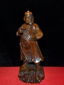 黄杨木雕人物财主