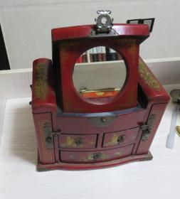 {会山书院}2010年时候买的一个复古梳妆收纳柜百宝箱