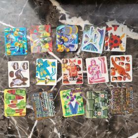 食品卡 酷玩地带 机器人 拼插卡 15张合售