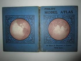 外文原版老地图:PHILIPS MODEL ATLAS 50 MAPS AND DIAGRAMS IN COLOUR(飞利浦50型彩色地图和图表)精装本