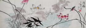 【来自作者本人,保证真迹】中国当代艺术家协会副主席,黄河文化书画院院士,中国孔子国际书画研究院首席画家王丞手绘   清幽2022