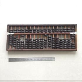 老物件17位老式旧算盘民俗怀旧实木算盘子教学计数摆件收藏