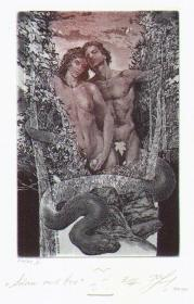 奈德努夫--伊甸园藏书票原作