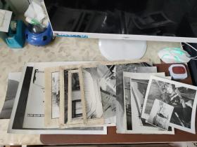 老照片:清江隔河岩水电站相关照片 一组     黑白照片       共12张合售      黑白照片箱00032