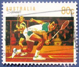 网球比赛--澳大利亚邮票--外国邮票甩卖--实拍--包真。