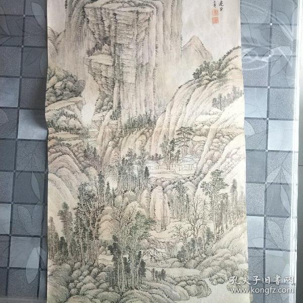 旧藏名人宣纸挂历画
