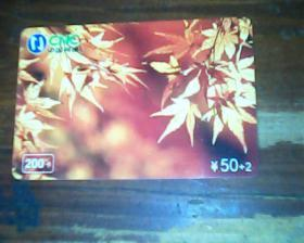电话卡 树叶