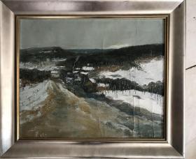 雪景油画作品220