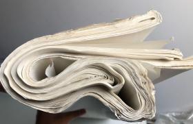 70年代老连史纸,老连四纸,印谱