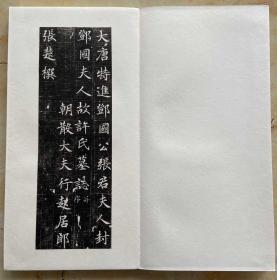 张暐妻 许日光墓志册页