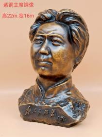 紫铜主席像,红藏开馆展示,个人收藏佳品,