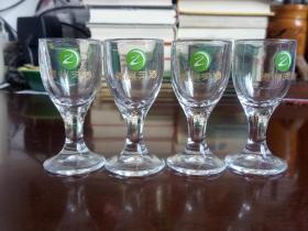 贵州习酒4只玻璃小酒杯