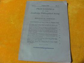 PROCEEDINGS OF THE CAMBRIDGE PHILOSOPHICAL SOCIETY 1923【外文看图】