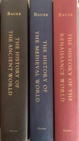 世界古代、中世纪和文艺复兴史 全三册   插图本   海量地图和图表   诺顿学术出版社出版  带完好护封  此套书可单卖,价格另议