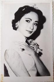 旗袍美女明星签名照片