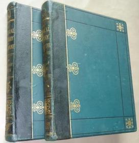 1876年Natural History of Selborne 吉尔伯特•怀特《塞耳彭自然史》绿色半皮全插图初版本 硕大2巨册全 天量精美版画插图  珍贵老照片