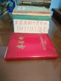 老笔记本:学习册。湖北省工业学大庆会议(有毛泽东、华国锋像,带题词)(包正版现货无写划,红塑料外衣)
