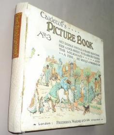 1901年 R. Caldecott's Picture Book No.3 儿童插画经典《伦道夫•凯迪克图画叁集》珍贵初版本 全珂罗版彩绘插画连环画古董书