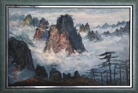 山水油画作品186前
