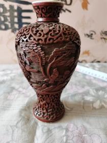 雕漆瓶  清代