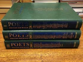 Poets of American and British ,    三册 , 12开巨册,书重10斤左右