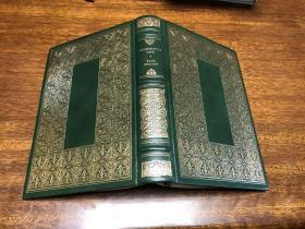 Humboldt's gift   Franklin library 真皮精装 , 书口三面刷金( 22k黄金) ,  能保存数百年的 存档级别的无酸纸