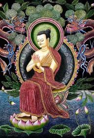 【大日如来佛】高端纽瓦丽唐卡,来自世界上最古老的唐卡民族 纽瓦丽唐卡 名家大师经典之作