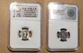 """印度塞克王朝银币 巴克特利亚银币 古希腊银币 中国史书中的""""大夏"""" 丝路银币 阿波罗多托斯二世"""