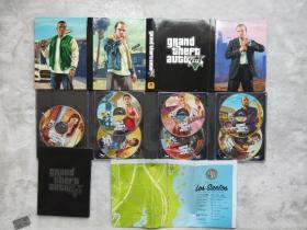 PC盒装正版电脑游戏光盘 GTA5 侠盗猎车手5 7张光盘+地图 不包含激活码  实物如图 只能收藏和安装使用