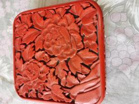 雕漆--首饰盒