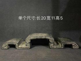 老石雕旧石器仿古底座狮子中式案头石臼石权青石石鼓镇纸茶席石盆