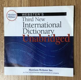 Webster's Third New International Dictionary Unabridged, V 2.5 Compact Disc Data Storage