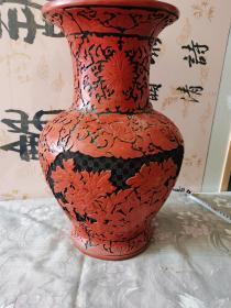 雕漆瓶 大瓶 60-70年代