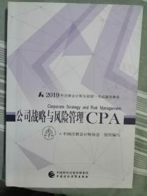 公司战略与风险管理CPA---2019年注册会计师全国统一考试辅导教材(16开,93品)东屋-南