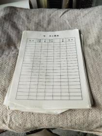 收藏 作废  年 月工资表  90年代  单张价格