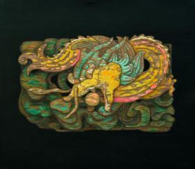 名家江树海画作---云中祥龙