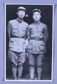青年林彪元帅 和 青年聂荣臻元帅合影一张(尺寸:19*12cm)HXTX117603