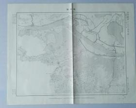 国内最早 日本盗绘 中国军用地图【瑞昌县】明治四十三年 十万分之一